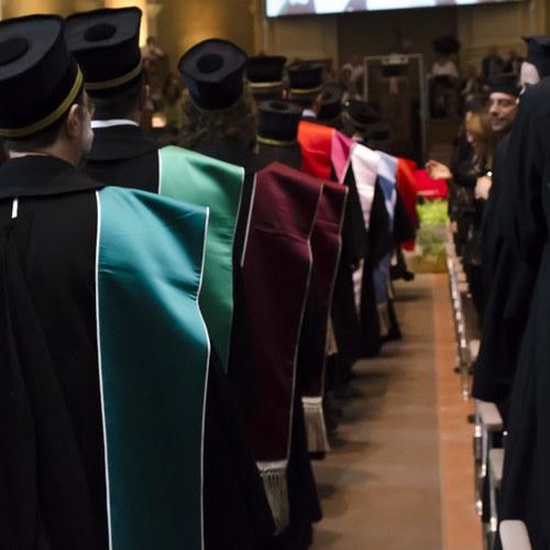 Aula Magna di Santa Lucia - via Castiglione 36 - Bologna - Cerimonia di proclamazione dei Dottori di ricerca - 08 Giugno 2018